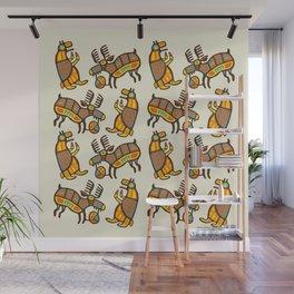 Moose & Bear Wall Mural