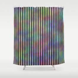 Black Strips. Fashion Textures Shower Curtain