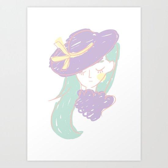 La fille mystérieuse Art Print
