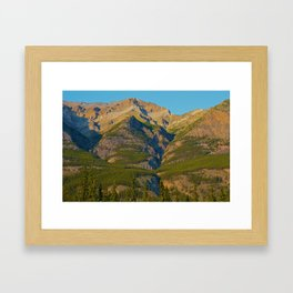 Evening light on Mt. Kerkeslin in Jasper National Park Framed Art Print