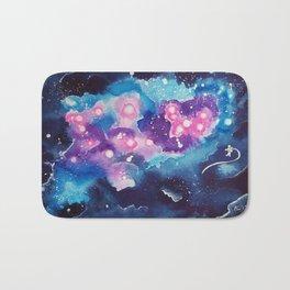 Tiny Astronaut and the Blue Nebula Bath Mat