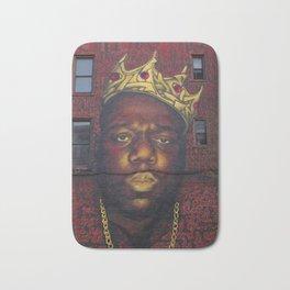"African American 'King of New York', Bedford–Stuyvesant ""Biggie"" Mural Photograph Bath Mat"