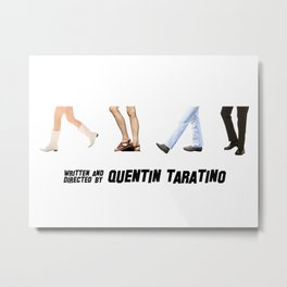 Quentin taratino feet Metal Print