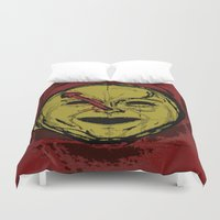 watchmen Duvet Covers featuring observations upon loss by Melvin Pena