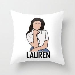 Lauren Jauregui Throw Pillow