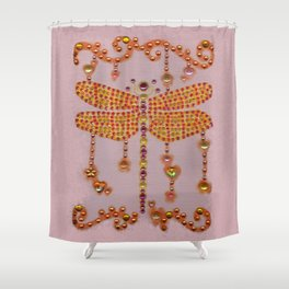 Dragonfly in Pink Shower Curtain