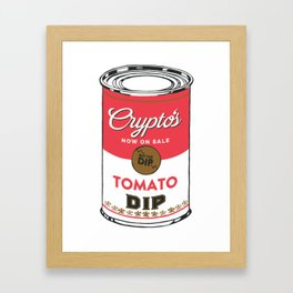 Crypto's : Buy the Dip Framed Art Print