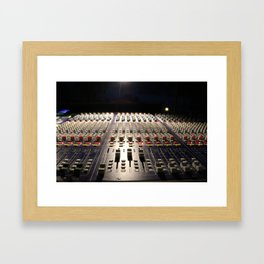 Nighttime Soundboard Photo Framed Art Print