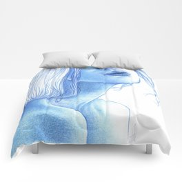 Blue skin Comforters