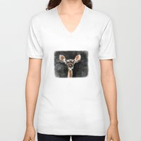 fawn V-neck T-shirts featuring FAWN by Alison Sadler's Illustrations