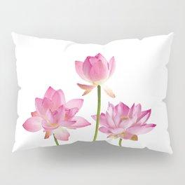Lotos Waterlilies Flowes pink Pillow Sham