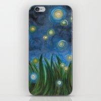 fireflies iPhone & iPod Skins featuring Fireflies by Kristen Fagan