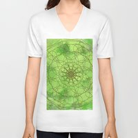 chakra V-neck T-shirts featuring HEART CHAKRA  by NioviSakali