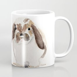 Bunny Watercolor (Flop Eared Bunny) Coffee Mug