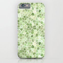 Pale Green Cobbled Patchwork iPhone Case