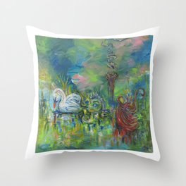 Spilling my Guts in the Fairytale Sea Throw Pillow