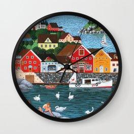 Swan's Cove Wall Clock