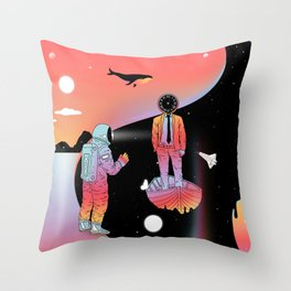 Coexistentiality 2 (A Passing View) Throw Pillow