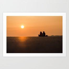 Coucher de soleil Art Print