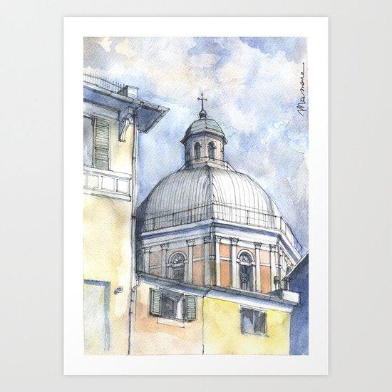 Chiesa A Pegli Art Print