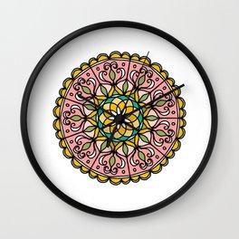 Mandala: Pink Wall Clock
