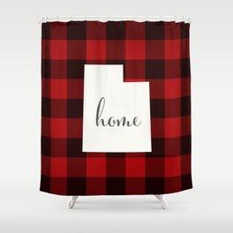 Utah is Home - Buffalo Check Plaid Shower Curtain