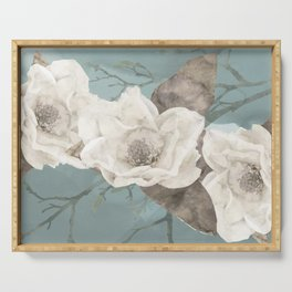 Magnolia Blossoms Serving Tray