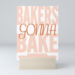 baker bread gift bakery bread rolls confectioner Mini Art Print