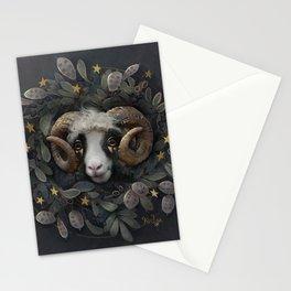 Lunaria star wreath Stationery Cards
