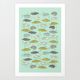 Cute Crocodiles Art Print