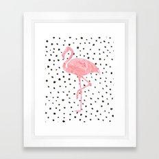 Flamingo Art print, Pink, Glam, Dalmatian, Tropical, Nursery, Living Room Framed Art Print