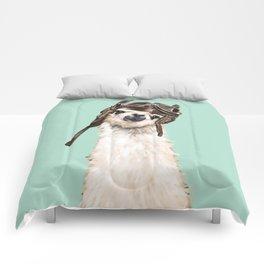 Cool Pilot Llama Comforters