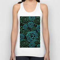 mod Tank Tops featuring mod flowers by Sylvia Cook Photography