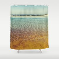 pacific rim Shower Curtains featuring pacific by Bonnie Jakobsen-Martin