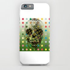Op Art Skull With Multi-coloured Dots Slim Case iPhone 6s