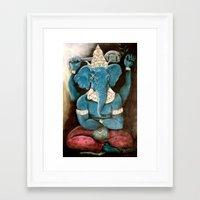 ganesh Framed Art Prints featuring ganesh by Michael Anthony Alvarez