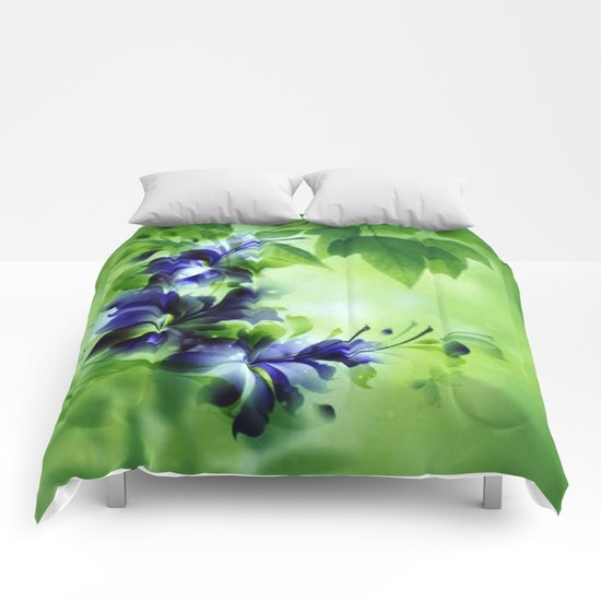 Cascading Bouquet Abstract Comforters