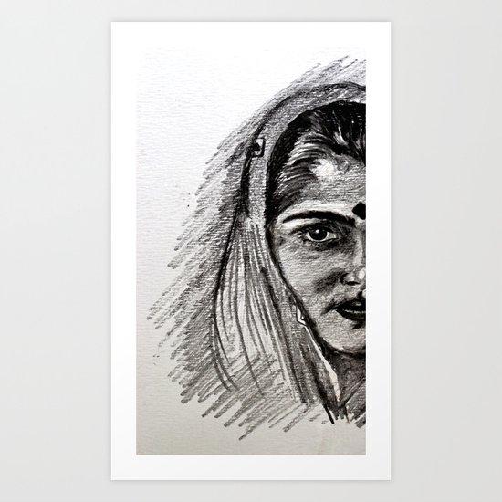 Naari Art Print