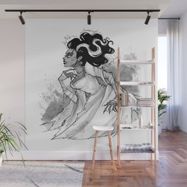 Inktober Bride of Frankenstein Wall Mural