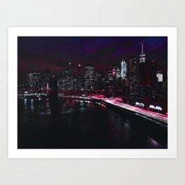 Red New York City Art Print