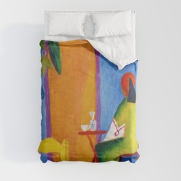 August Macke - Turkish Cafe - Digital Remastered Edition Comforters