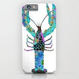 Fun Mandala Lobster Art - Colorful Beach Decor - Sharon Cummings iPhone Case