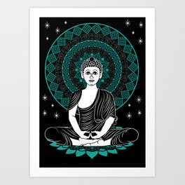 HWJ Creative x Benny Crooks - Meditating Mandala Art Print
