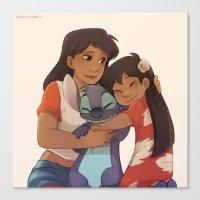 ohana Canvas Prints featuring Ohana by Sunny