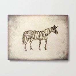 Scribbled Unicorn Metal Print