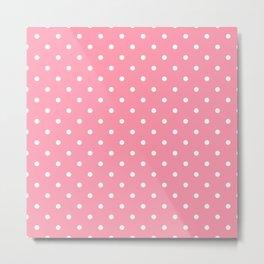 Light Pink Polka Dots Metal Print