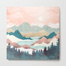 Lake Sunrise II Metal Print