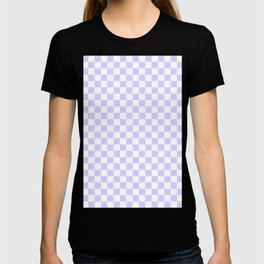 White and Pale Lavender Violet Checkerboard T-shirt