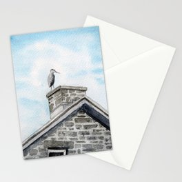 Heron on Watson's Mill Stationery Cards