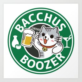 BOOZER CAT Art Print